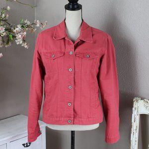 Eddie Bauer Pink Jean Jacket